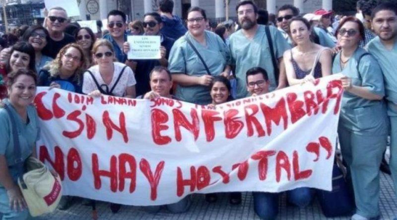 CABA: Protesta de los enfermeros