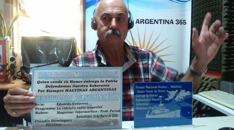 Eduardo Gutierrez premio Malvinas