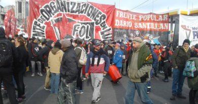 Dina Sanchez del Frente Popular Dario Santillán: «El presidente creía que estaba en USA»
