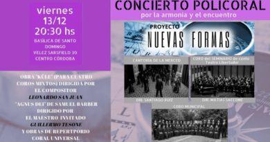 Grupo coral Nuevas Formas, del Maestro Pablo Zartmann se presenta este viernes en Córdoba