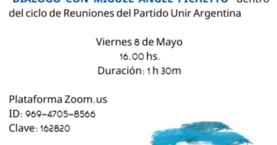Invitación a un diálogo virtual con Pichetto