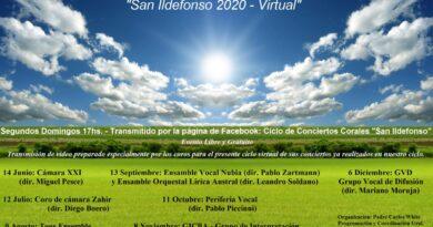 Música libre en cuarentena: Ciclo de conciertos corales «San Ildefonso 2020 – virtual»